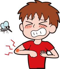 蚊に刺されたイラスト