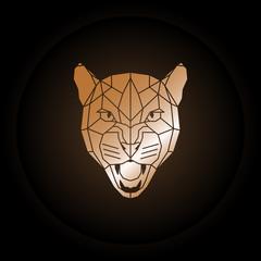 Logo puma head in polygonal style.