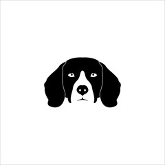 Beagle Dog Head Vector Logo Template Illustration