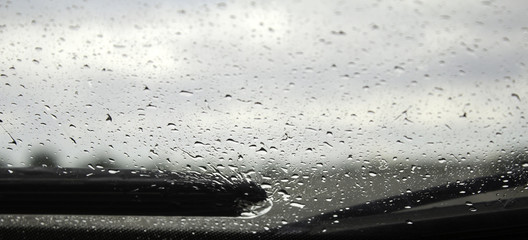 Rain on wiper blades