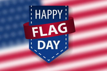 Happy Flag Day background template. Vector illustration of a background for Happy Flag Day.