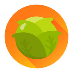 Salat Icon Flat Design Vektor Grafik Illustration