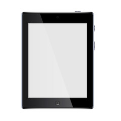 tablet isolated on a white background. black tablet. vector