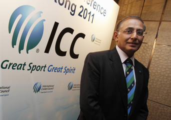 International Cricket Council Chief Executive Haroon Lorgat poses in Hong Kong