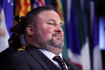 Conservative MP Fletcher takes part in a news conference regarding his two private member's bills dealing with physician-assisted suicide, on Parliament Hill in Ottawa