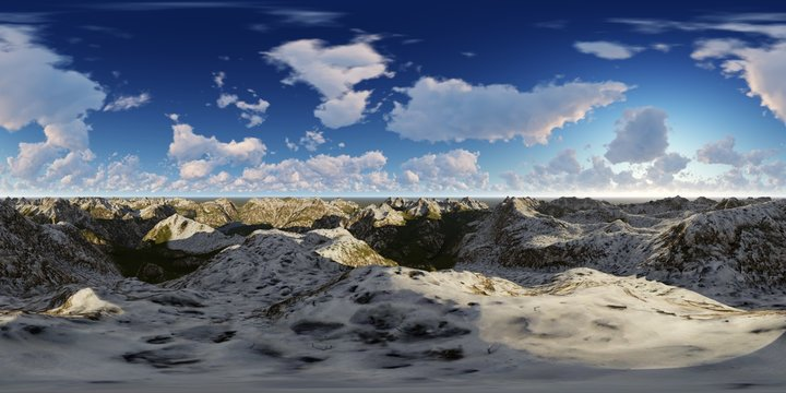 high mountains panorama skybox