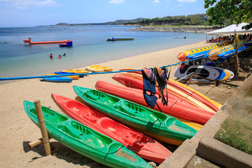 Water activity equipment at Canyon Cove Resort in Batangas, Philippines