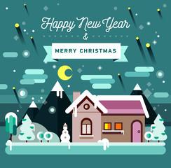 Winter season. Christmas and New Year