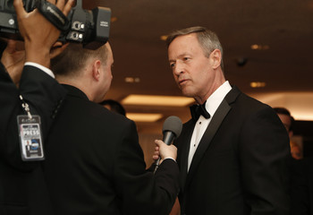Former governor of Maryland Martin O'Malley speaks to the media as he arrives for the annual White House Correspondents' Association dinner in Washington