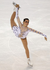 Valentina Marchei of Italy performs during the ladies short program at the European Figure Skating Championships in Tallinn
