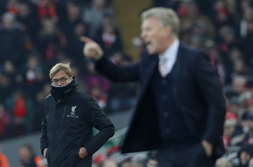 Liverpool manager Juergen Klopp and Sunderland manager David Moyes