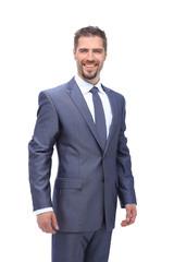 Successfull smiling businessman