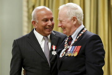 Fairfax Holdings CEO Watsa is congratulated by Governor General Johnston after being awarded the Order of Canada in Ottawa