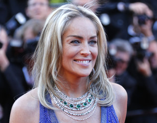 """Actress Sharon Stone arrives for the screening of the film """"Behind the Candelabra"""" in competition during the 66th Cannes Film Festival"""