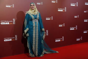 Actress Soria Zeroual poses as she arrives at the 41st Cesar Awards ceremony in Paris