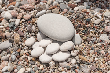 Smooth pebbles and stones