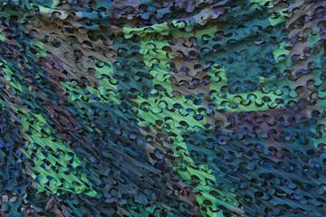 Army Military Weathered Masking Camouflage Net Background, Mask Net Tarp Seamless Isolated Texture