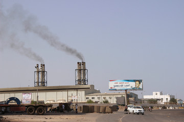 A view of a power generating station in the southern port city of Aden, Yemen