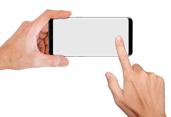 Hand Hold Smartphone for snapping a picture
