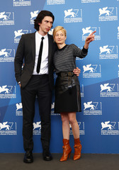 "Cast member Rohrwacher and Adam Driver pose during the photo call for the movie ""Hungry Hearts"" at the 71st Venice Film Festival"