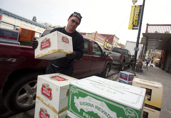 "Ruesch unloads alcohol for ""No Name Saloon"" before first day of Sundance Film Festival in Park City"