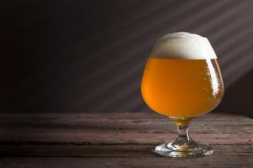 Unfiltered light beer