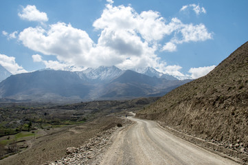 Muktinath Valley in Mustang Nepal