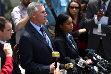 District Attorney of Montgomery County Kevin R. Steele addresses the media after actor and comedian Bill Cosby departed the Montgomery County Courthouse following a pre-trial hearing on sexual assault charges in Norristown, Pennsylvania