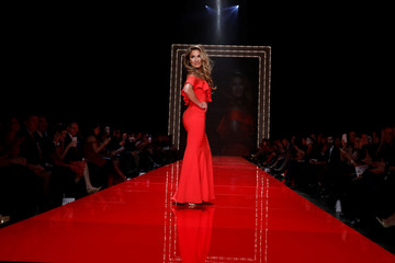Singer Jessie James Decker takes part in the American Heart Association's Go Red For Women Red Dress Fall/Winter show during New York Fashion Week in the Manhattan borough of New York