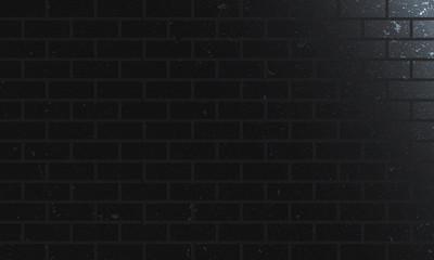Black White bricks wall texture