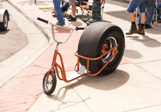 Scooter With Giant Rear Tire