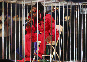 Rasta performs at the finals of the annual International Soca Monarch at Hasely Crawford Stadium in Port of Spain