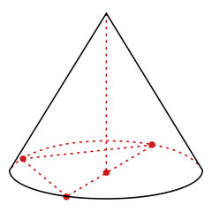 Vector Single Line Illustration - Cone