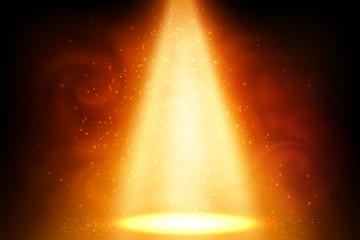 In de dag Licht, schaduw Orange magic spot light background