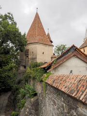 Turnul Cizmarilor (The Bootmakers' Tower) and part of the medieval fortifications of Sighisoara citadel