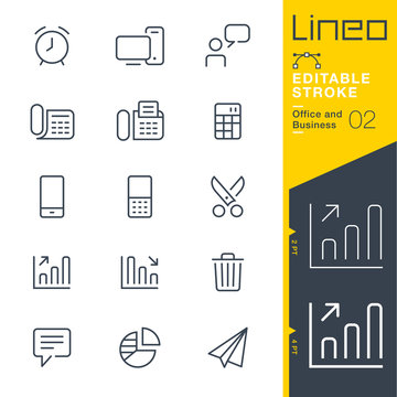 Lineo Editable Stroke - Office and Business outline icons. Vector Icons - Adjust stroke weight - Expand to any size - Change to any colour.