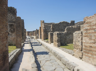 Pompei is the home of the ancient Roman ruins part of the UNESCO World Heritage Sites. It is located near Naples, Campania region, Italy.