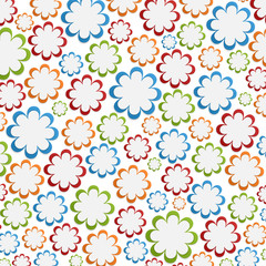 Summer flowers background. Floral Pattern.