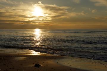 Sonnenuntergang an der See