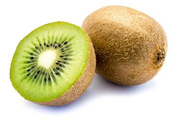 Kiwi Kiwis Kiwifrucht isoliert freigestellt auf weißen Hintergrund, Freisteller