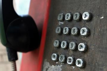 Old payphone keypad numbers