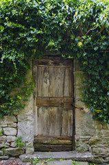 Old Garden Door in Cortona, Italy
