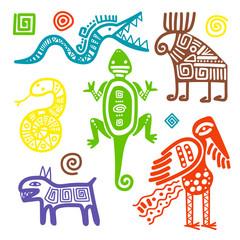 Mexican culture primitive tribal signs
