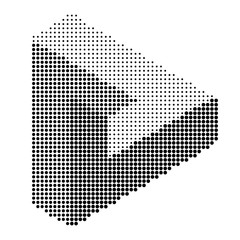 Halftone dot Impossible triangle. Impossible figure. vector illustration