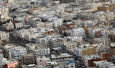 Buildings are seen from the top of Mount Al-Noor in the holy city of Mecca