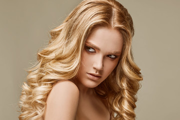 sensual glamour woman model with fresh makeup