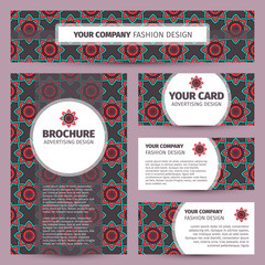 Corporate identity design with ethnic pattern