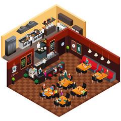 Isometric Design of a Restaurant