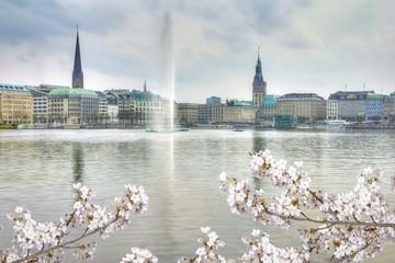 Hamburg in springtime