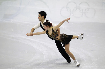 Italy's Cappellini and Lanotte perform during the ice dance compulsory dance figure skating competition at the Vancouver 2010 Winter Olympics